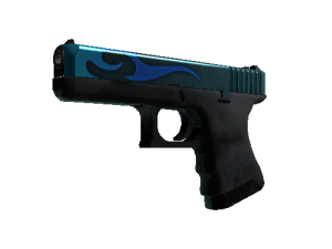 weapon glock aq glock18 flames blue light large.5fed23d5a32793c25914eeb99b45f1a2b0cb9d6c 300x225 - 弯曲猎手武器箱